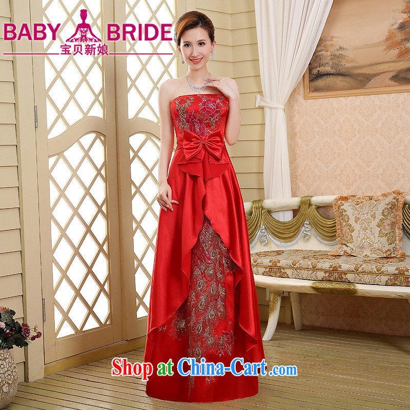 Red wiped his chest pregnant bride toast clothing new spring 2015, dress up, the Marriage Code Cultivating Female red XL