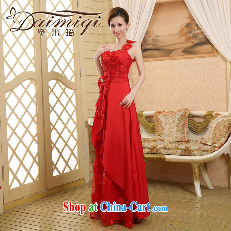2015 wedding dresses new wedding dress bridal toast clothing Evening Dress red, shoulder-length, red XXL