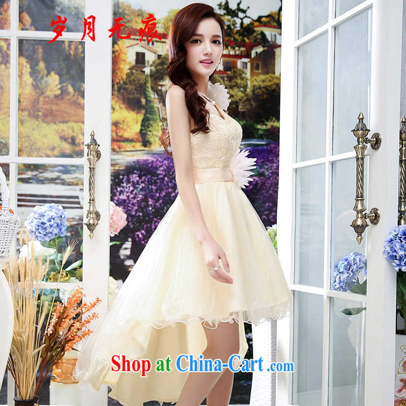 2015 summer new package bows Service Bridal wedding dress dresses red marriages with apricot XL