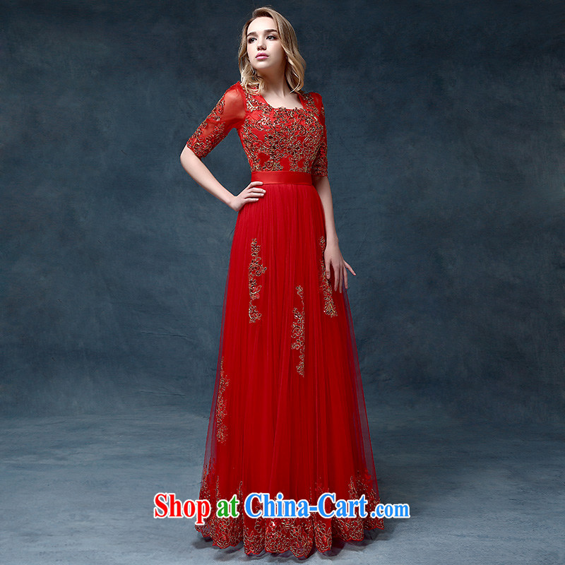 According to Lin married Elizabeth toast service bridal dresses 2015 new spring and summer red dress party style dress female Red are code