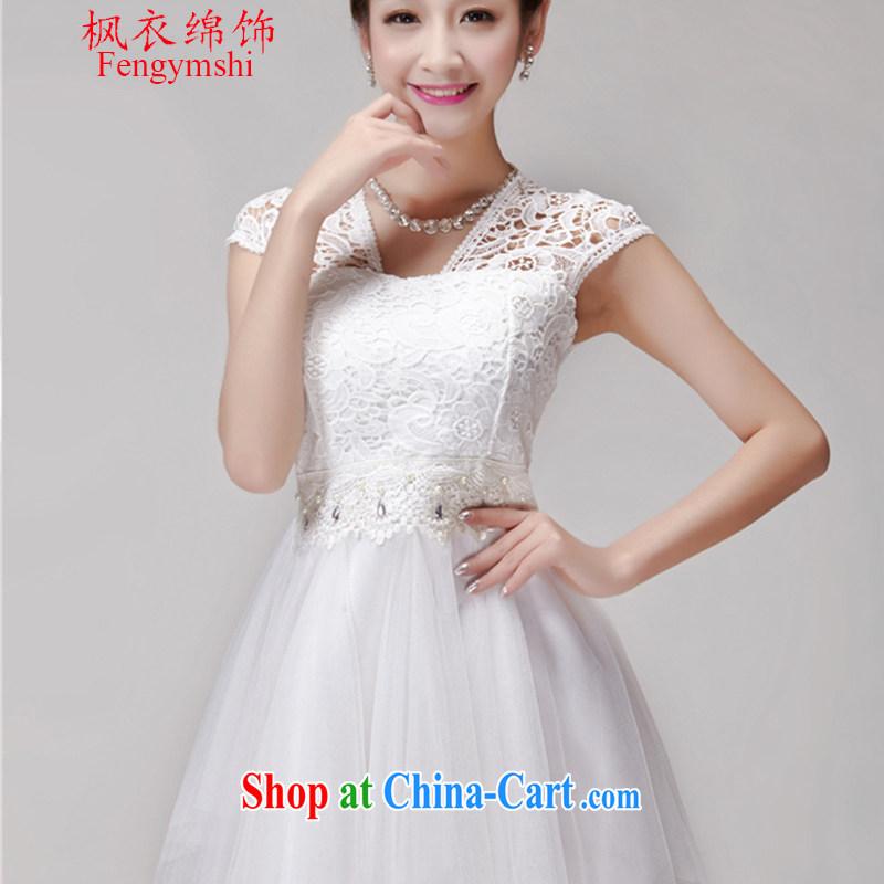 Feng Yi cotton ornaments summer 2015 new lace hook flower dresses women shaggy dress style dress skirt white L