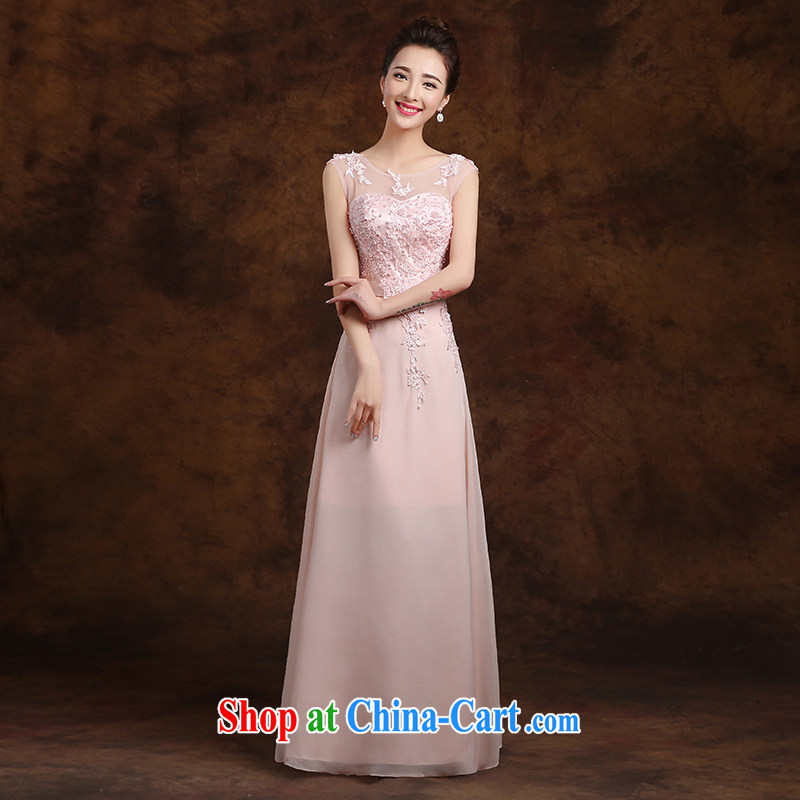 White first about serving toast shoulders lace flowers bridal wedding dresses toast bridesmaid service long stylish evening dress 2015 new pink strap, XXL