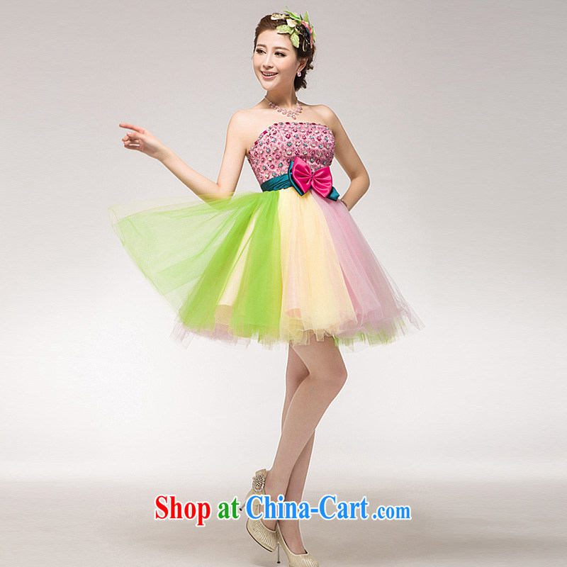 Annual Concert dress uniform serving the cultural performances small dress color stage Evening Dress bridesmaid dresses in colorful L