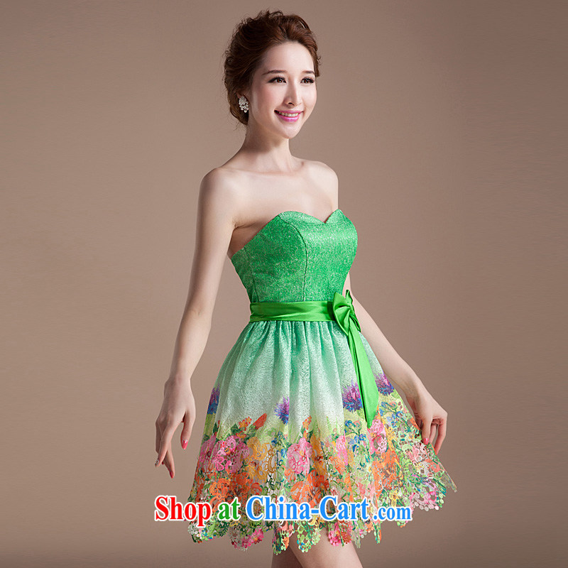 Summer New Women clad stamp duty, Princess tampered short skirt with bare chest dress dresses 2015 new cheerful XL