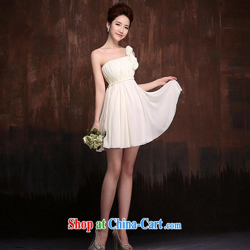 Ho full Chamber 2015 new bridesmaid clothing custom bridesmaid dress bridesmaid dress champagne color bridesmaid dresses in short white XL