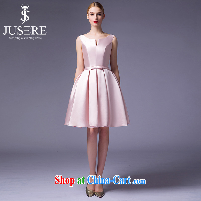 It is not the JUSERE high-end wedding dresses 2015 new short, satin bridesmaid service name Yuan toast dress uniform high quality fabric fruit pink tailored