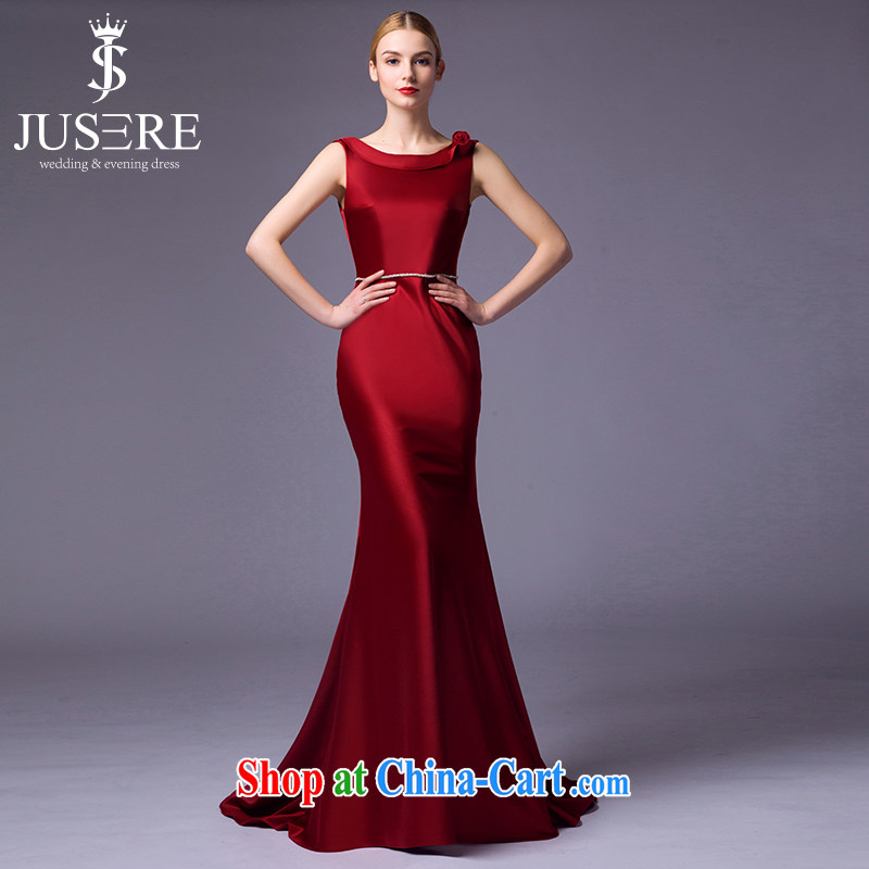 It is not the JUSERE high-end wedding dresses 2015 new festive Chinese red name Yuan toast dress uniform high quality fabric wine red tailored