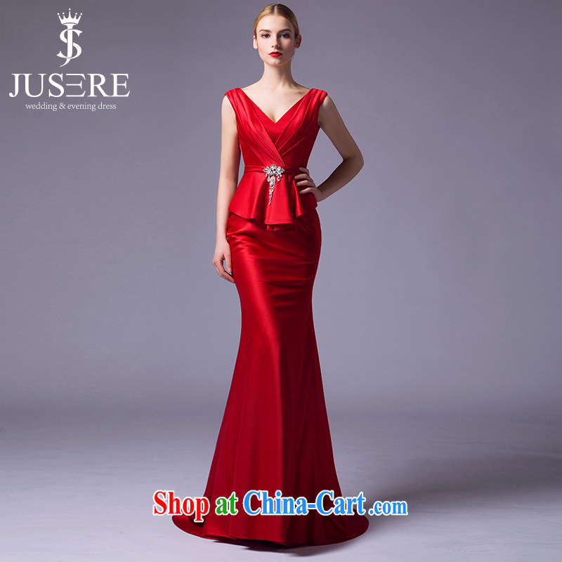 It is not the JUSERE high-end wedding dresses 2015 new paragraph to align your shoulders bridal red wedding dresses at Merlion red tailored