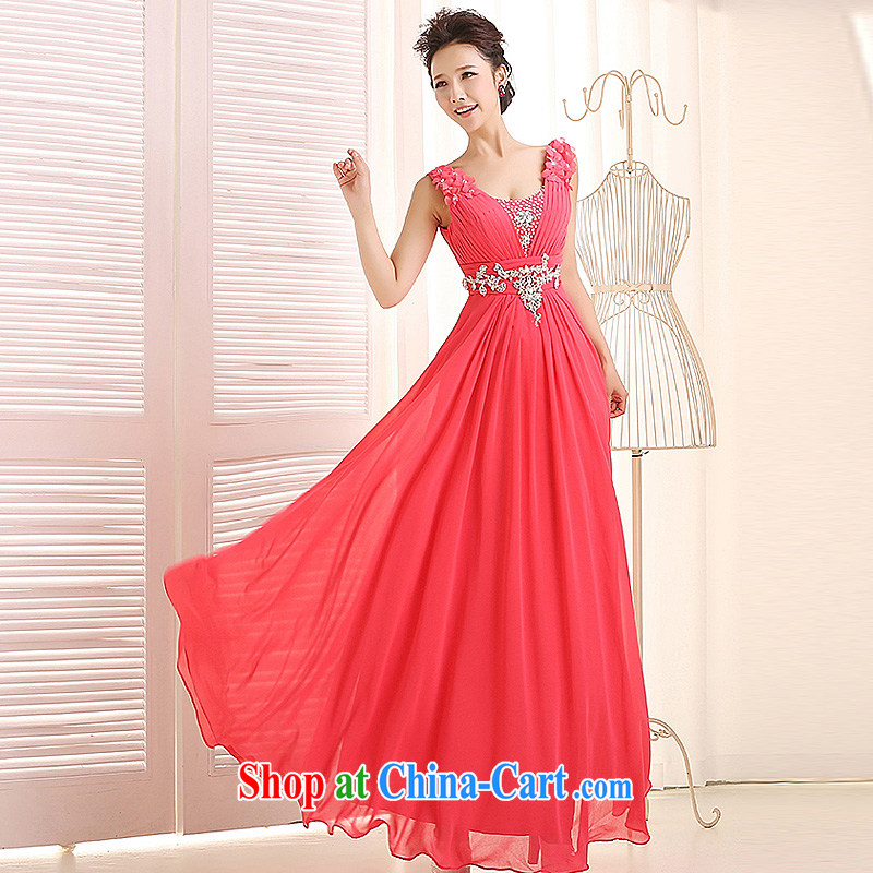 Ho full Chamber 2015 new bridal evening dress long bridesmaid dress girls dresses bridesmaid dress wedding dresses rose red custom contact Customer Service