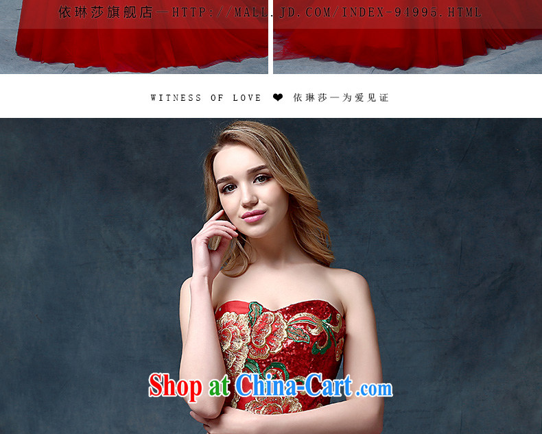 According to Lin bride Elizabeth wiped chest tail bows serving China wind embroidery cultivating crowsfoot Banquet Hosted Evening Dress red are code pictures, price, brand platters! Elections are good character, the national distribution, so why buy now enjoy more preferential! Health