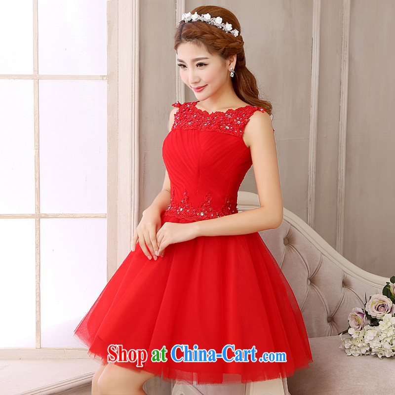 White first to approximately 2015 new short shaggy dress red bows Service Bridal with lace wedding dresses dresses short sections of red red S