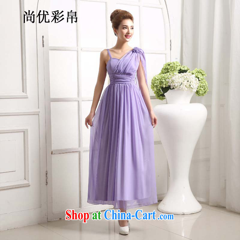 There are optimized color Kingfisher bridesmaid dress short strap with small dress dress bridal wedding dinner served toast bridesmaid dress long, mz 1210 purple are code