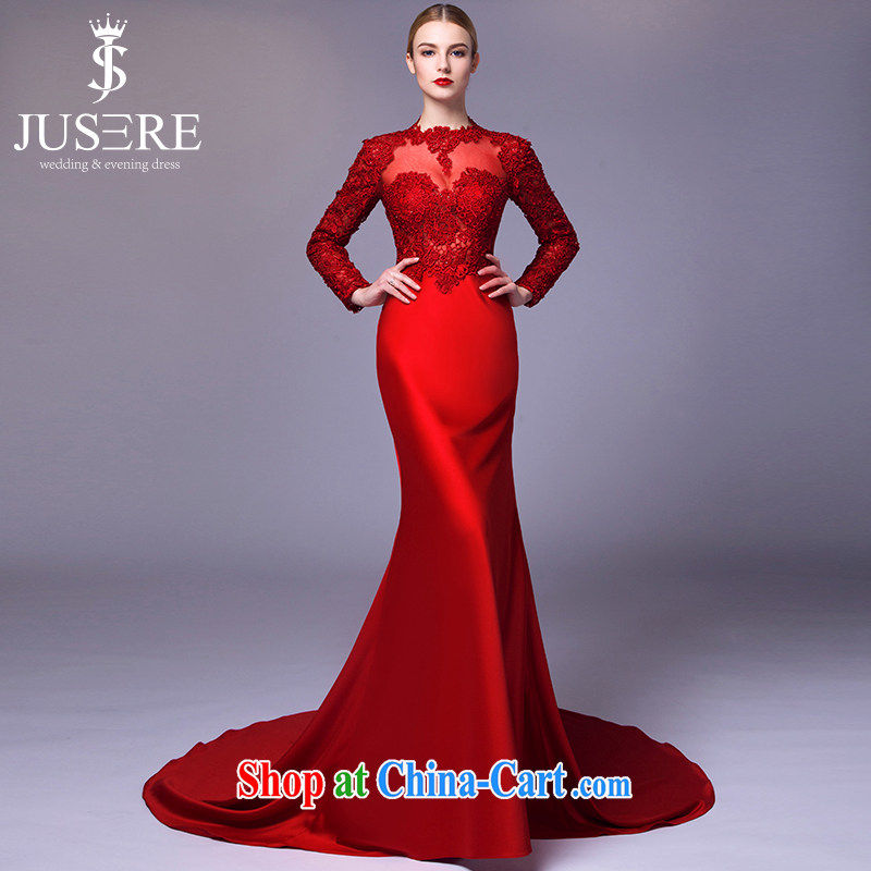 It is not the JUSERE high-end wedding dresses 2015 new festive Chinese red name Yuan toast dress uniform biological air quality fabrics red tailored