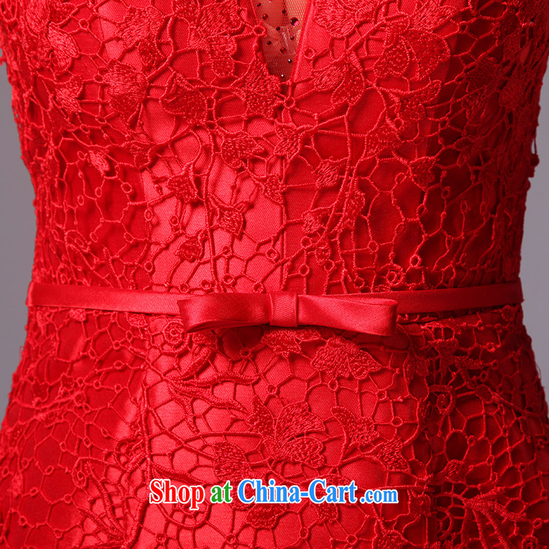 It is not the JUSERE high-end wedding dresses 2015 new festive Red Cross Society of China won a toast dress uniform high quality fabric red tailored, by no means, that, online shopping