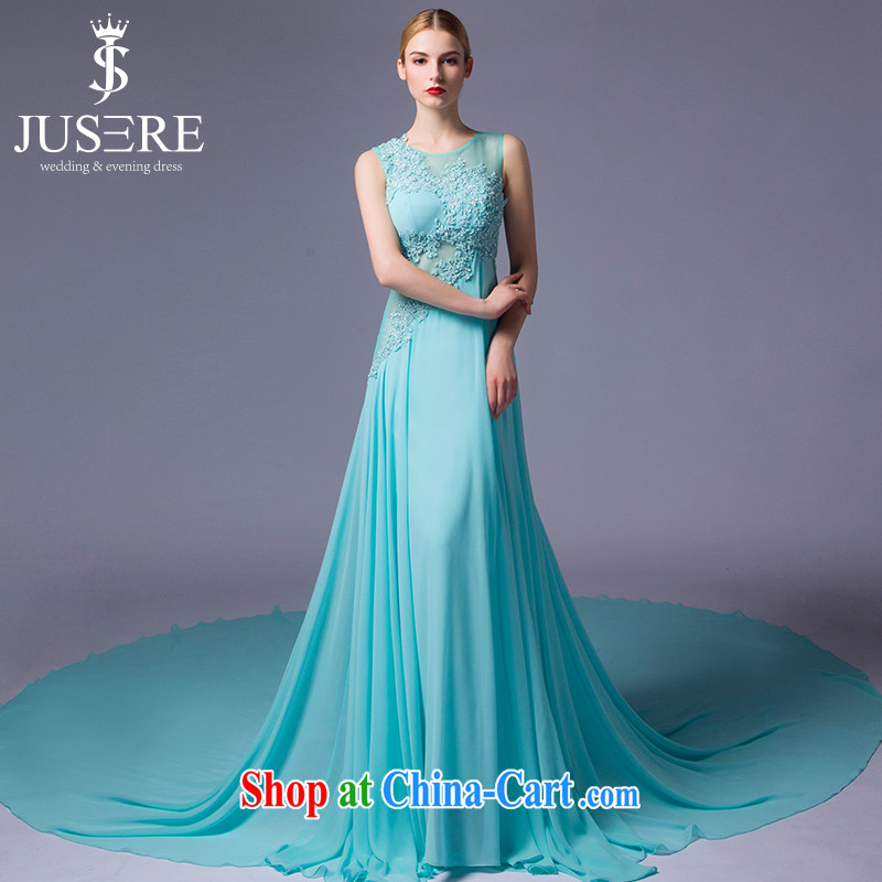 It is not the JUSERE 2015 high-end wedding dresses new small fresh blue name Yuan dress circle for snow woven embroidered toast serving light blue tailored