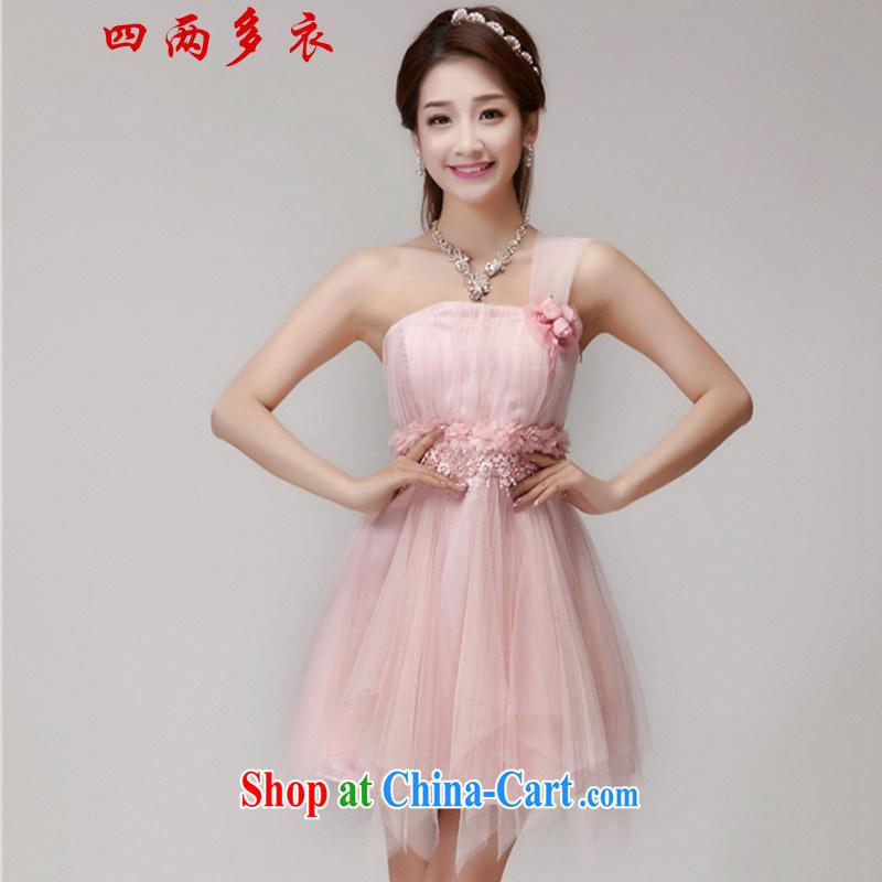 42 multi-yi 2015 bridesmaid dresses in banquet dress sister dress short small dress 1563 pink L