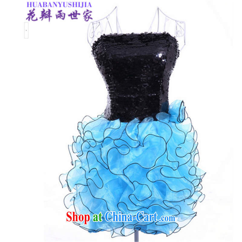 Petals rain Family Summer 2015 erase chest dresses female B 11 - 1 - 0918 - 65 blue are code