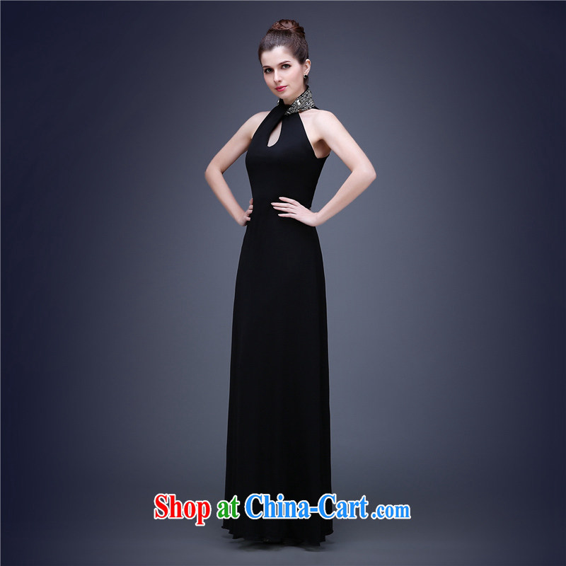 The Champs Elysees, as soon as possible, new mount also biological air quality Evening Dress moderator banquet high-waist dresses beauty dresses and elegant little black dress black XXL