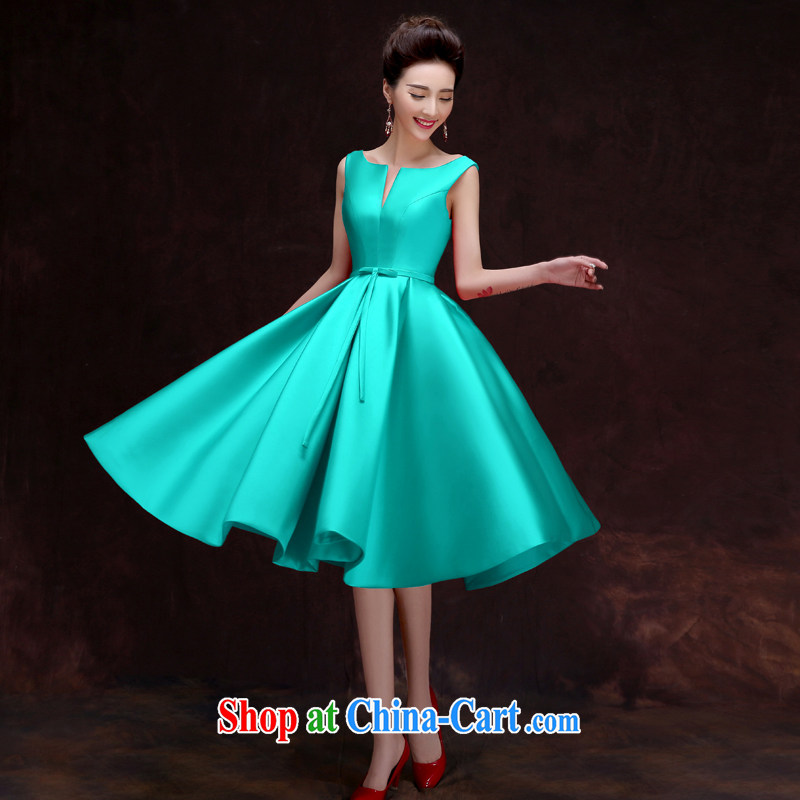 A good service is 2015 new bride toast clothing spring and summer red dress Chinese wedding, the dress skirt cyan 2 XL