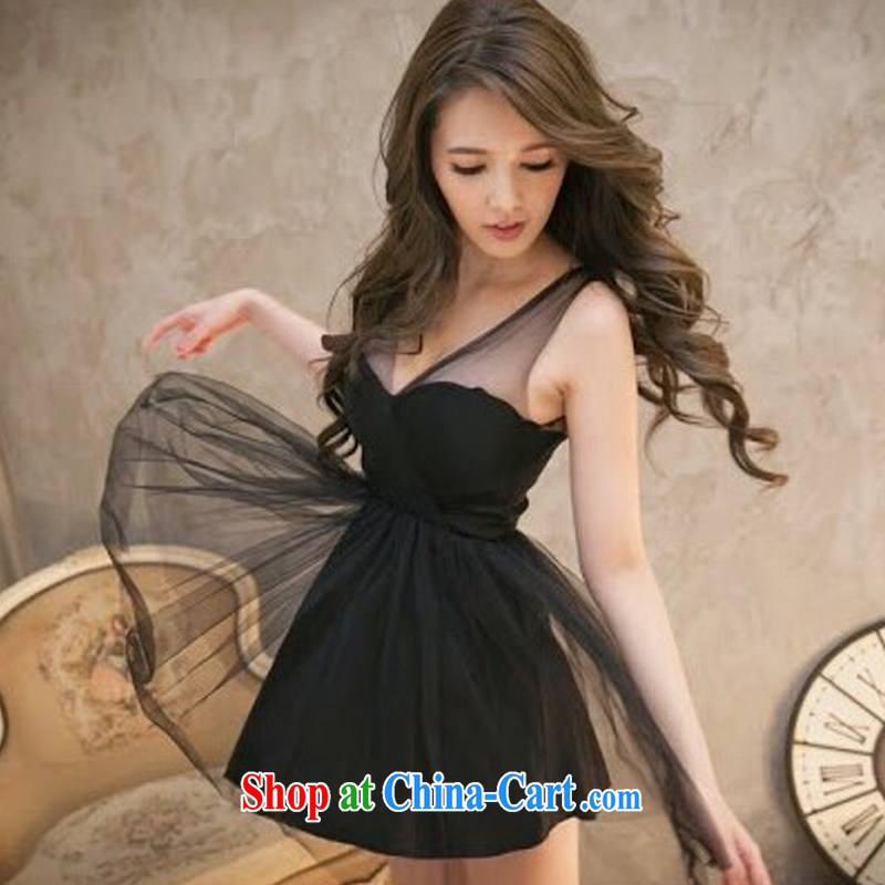 Cheuk-yan Zi Xuan 2015 Web yarn fluoroscopy shaggy dress small dress dress wiped chest skirt dresses