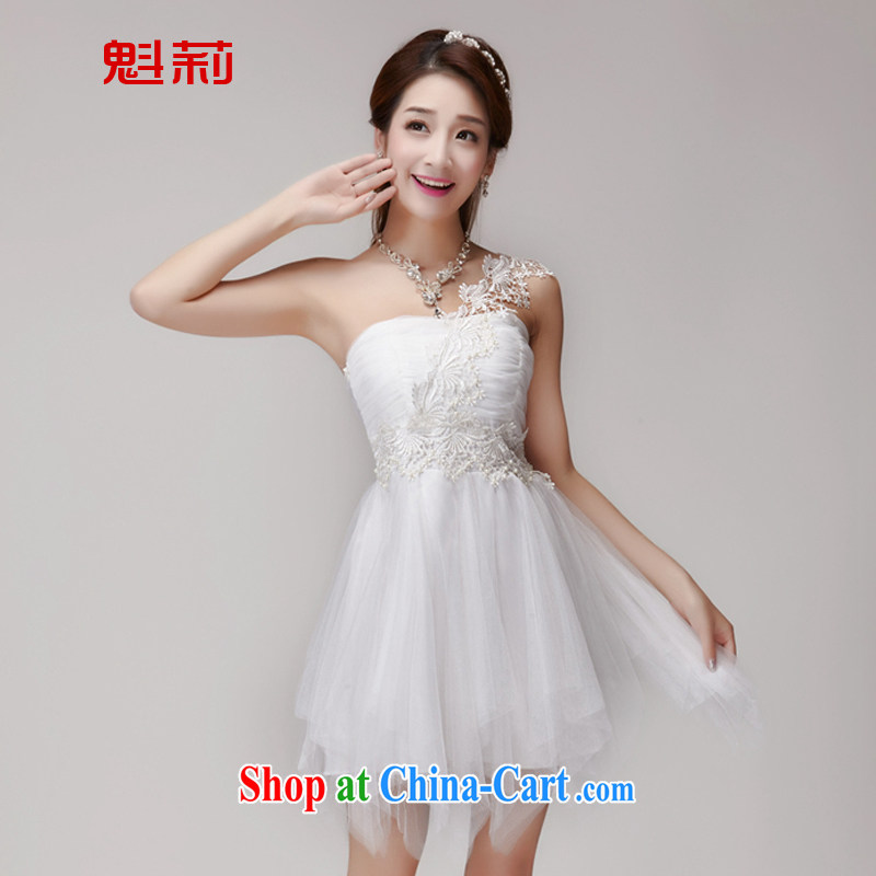 Li Ning Fukui 2015 New staple Pearl bridesmaid sister serving short skirts, bare chest banquet dress small dress summer 2588 K