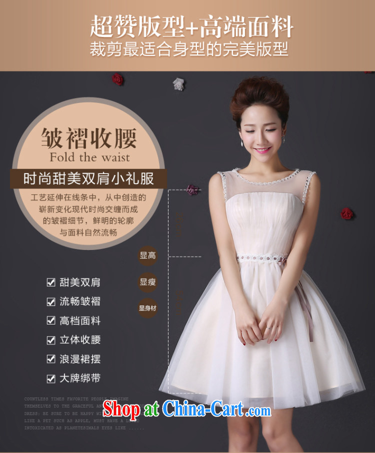 The color is still SA 2015 summer bridesmaid dress with real-time pictures taken short shoulders champagne color bridesmaid dress birthday party dress shaggy dress moderator dress champagne color Short M pictures, price, brand platters! Elections are good character, the national distribution, so why buy now enjoy more preferential! Health