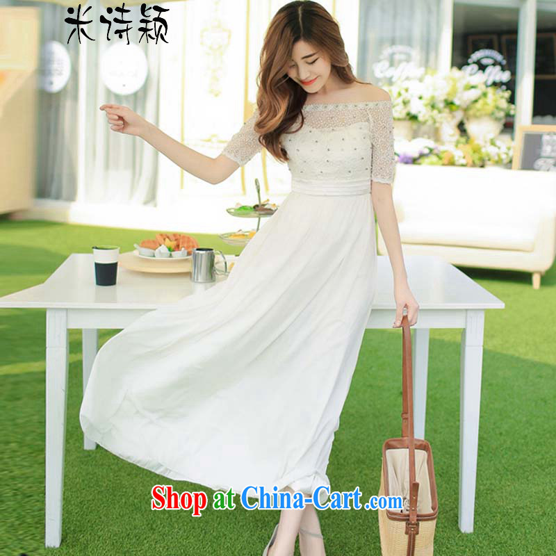 M Ms Elsie Leung, Ying 2015 new seaside resort bridesmaid dresses the dresses wedding bridal banquet evening dress dresses 016 white XL