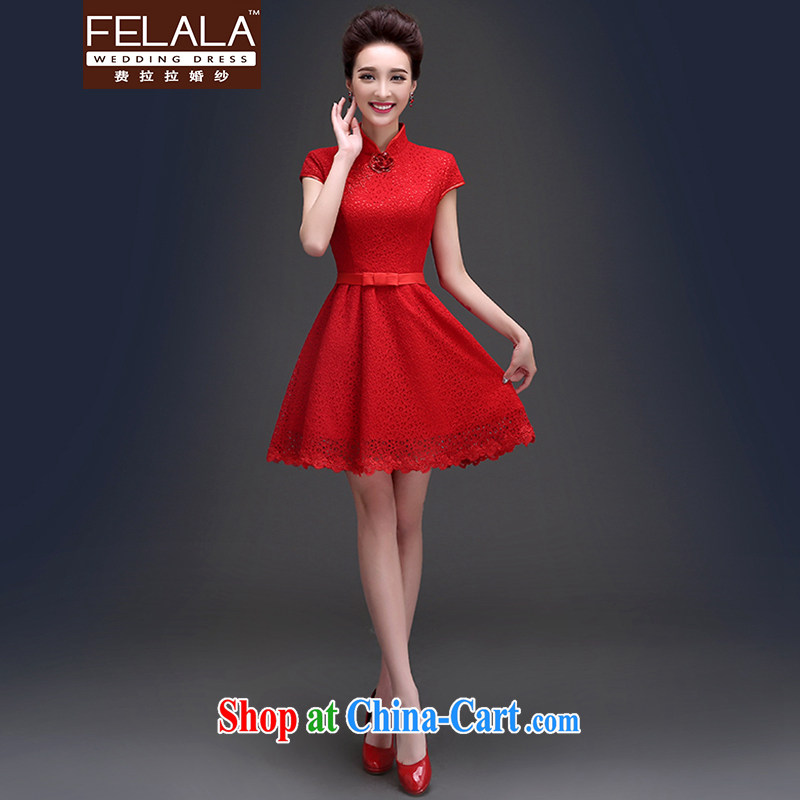 Ferrara 2015 summer antique Chinese, for package shoulder lace short bows dress uniform XL