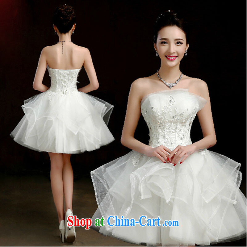 wedding dresses new spring 2015 erase chest bridal small dresses, short dresses bridesmaid mission shaggy short skirt girls white. Do not return does not switch