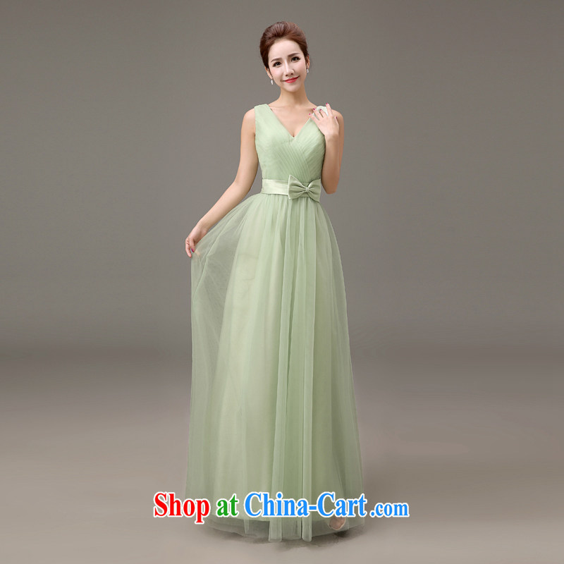 White first about bridesmaid clothing Korean single shoulder banquet dress summer 2015 New Long bridesmaid dress green bows Service Bridal Fashion C, tailored contact Customer Service