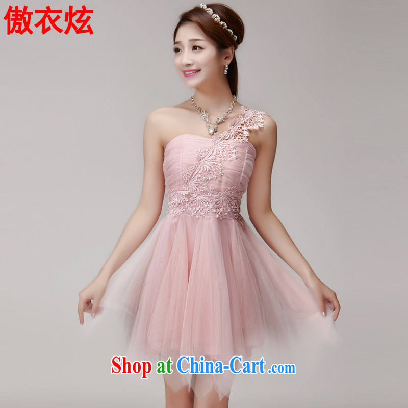 As well as Yi Hyun 2015 New staple Pearl bridesmaid sister serving short skirts, bare chest banquet dress small dress summer 9248 L pink L