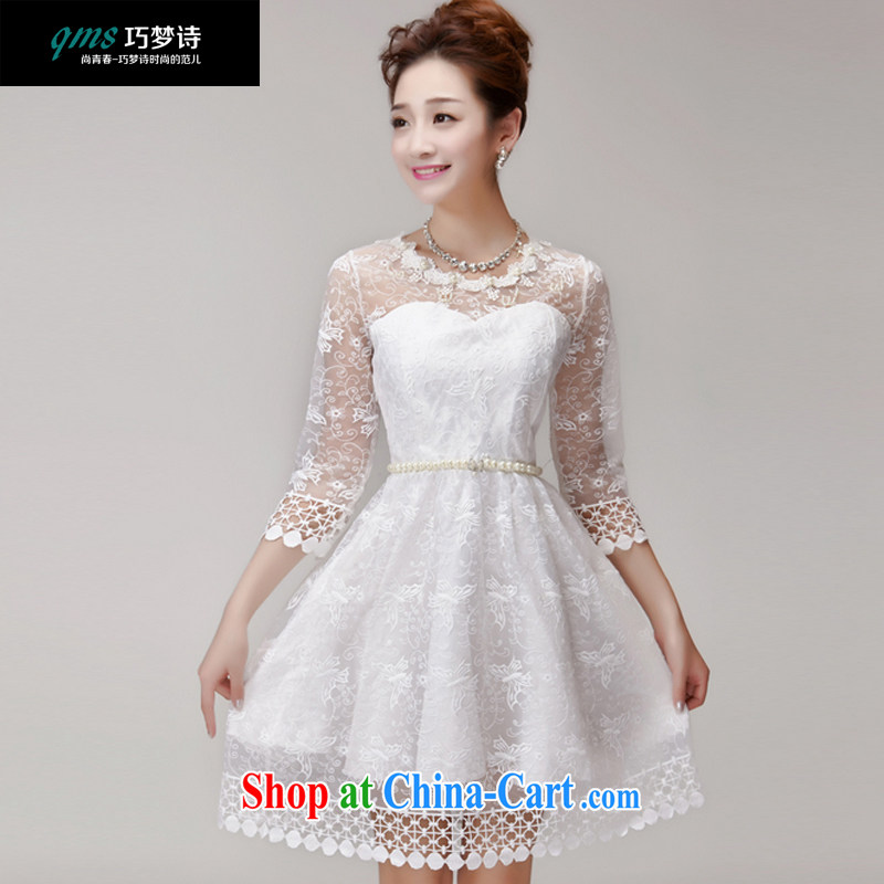 That dream poetry summer 2015 staples Pearl Princess Mary Magdalene chest bridesmaid sister beauty dress dress white