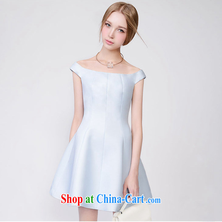 Animated shark land 2015 spring and summer New Products Lady style small fragrant wind graphics thin-waist dresses dress picture color L
