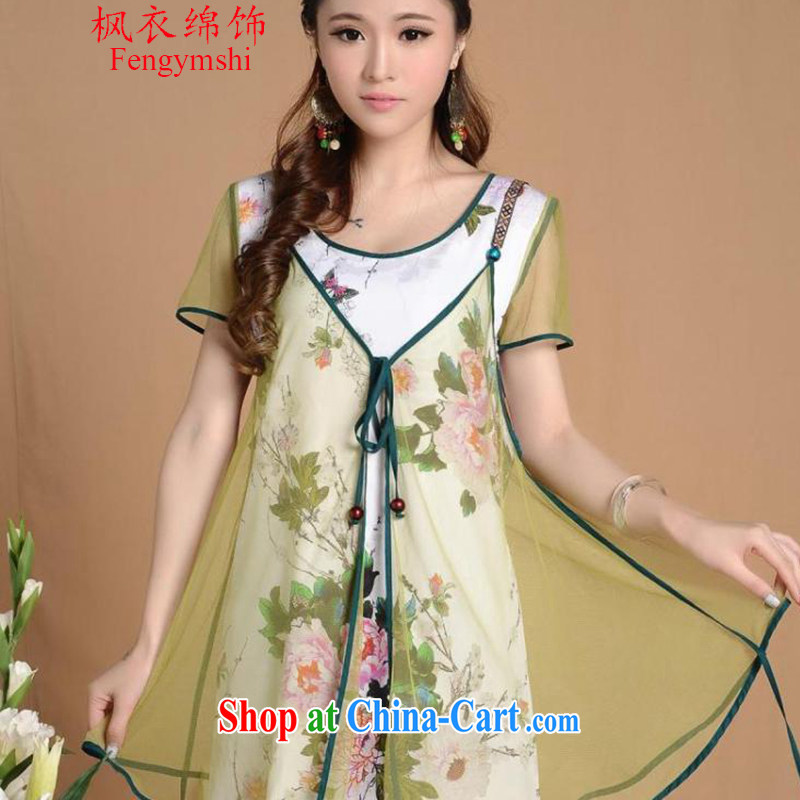 Feng Yi cotton trim national style in a new, decorated in summer, improved cheongsam F A 1 033 photo color XXL
