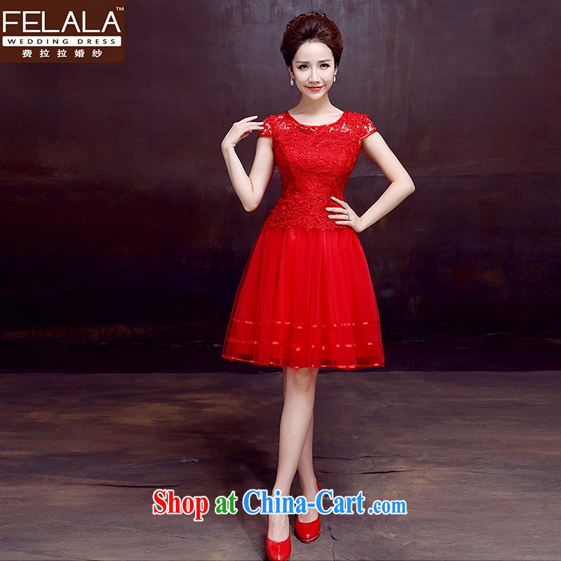 Ferrara 2015 summer classic round-collar lace package shoulder short dress small toast serving XL