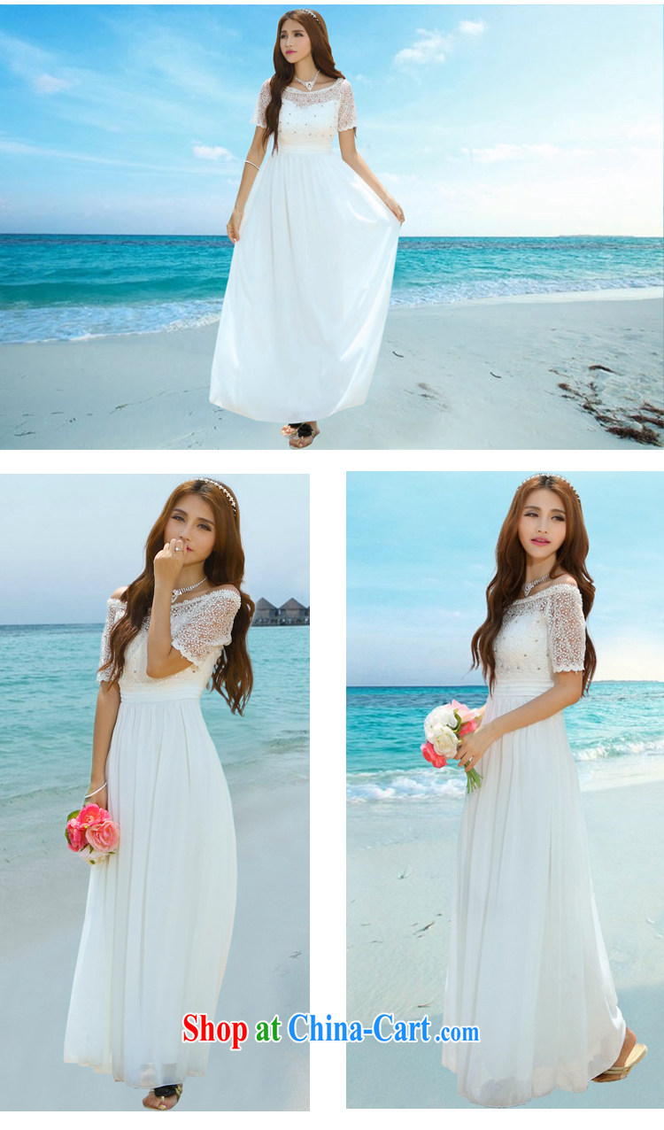 Colorful Flowers 2015 new Maldives beach dress wedding nails Pearl ...