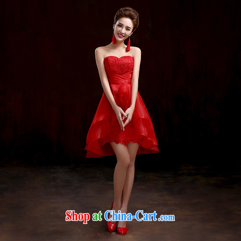 Pure bamboo love dresses wedding dresses new small dress short sections of red dress beauty lovely bridal dresses wedding dresses show stage dress red the shawl a purchase