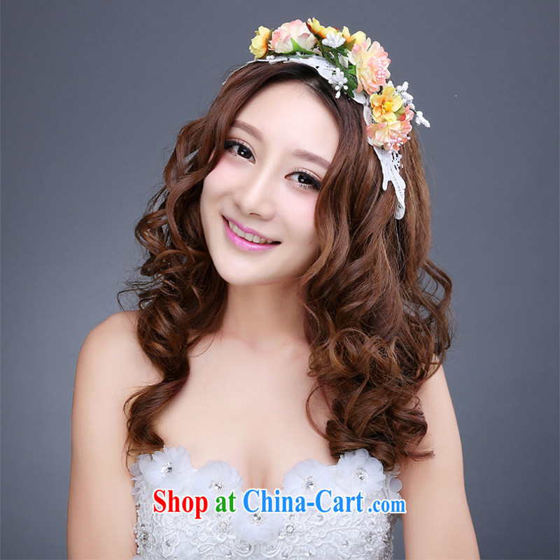 Honey, bride Korean bridal garlands and ornaments bridesmaid and flower outdoor beach photo, female, clamp accessories, wedding dresses Photo Album