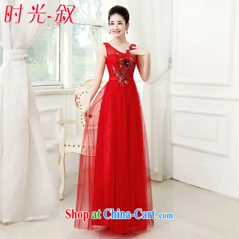 Time SYRIAN ARAB wedding dress summer bridal long gown shoulders serving toast bridesmaid clothing red evening dress Evening Dress uniforms female evening gown China Red聽XXL