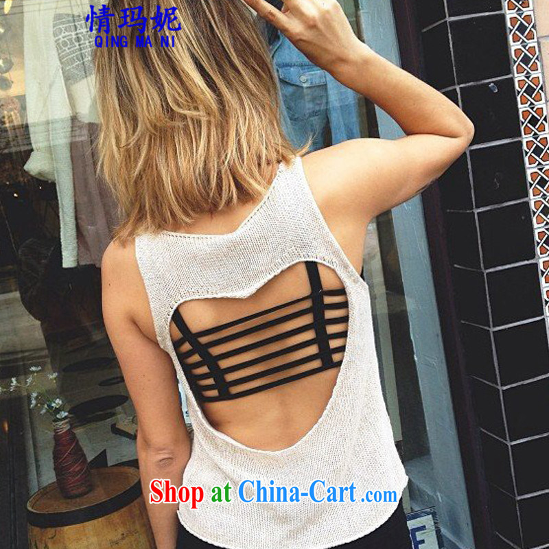 Love Princess Anne retro AA wind sexy Openwork back exposed tight wrapped chest bare chest a small strap vest female solid shirt G 5509 black are code