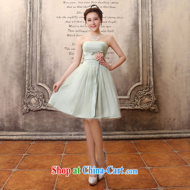 Jubilee 1000 bride's 2015 new light-green green sister bridesmaid dress long marriage Evening Dress dress hostess evening dress D 5053 Green Green short XL