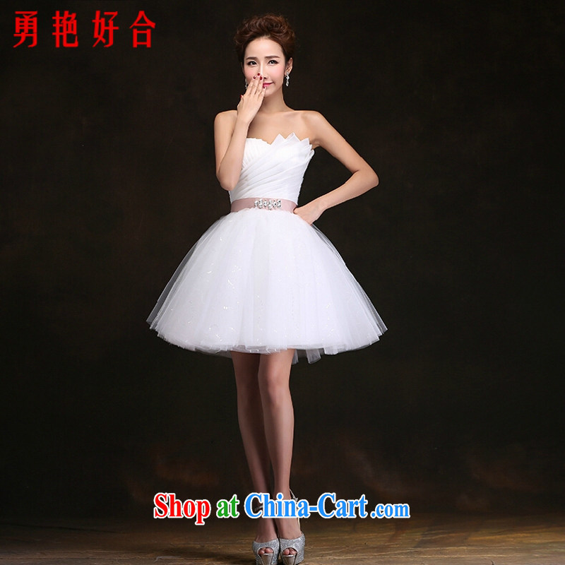 Yong-yan and Mr Ronald ARCULLI, bridal wedding dresses and stylish beauty short erase chest shaggy dress Western style wedding bridesmaid dresses small white. size color will not be returned.