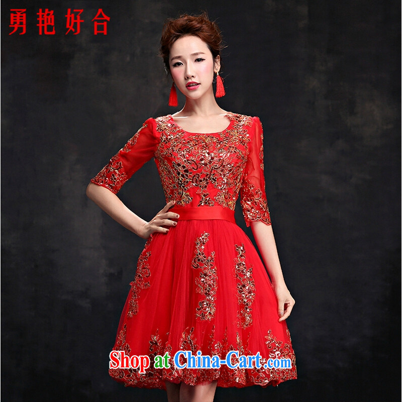 Yong-yan and Evening Dress 2015 new toast serving short, wedding dress Bridal Fashion wedding dresses summer Red. size color will not be returned.