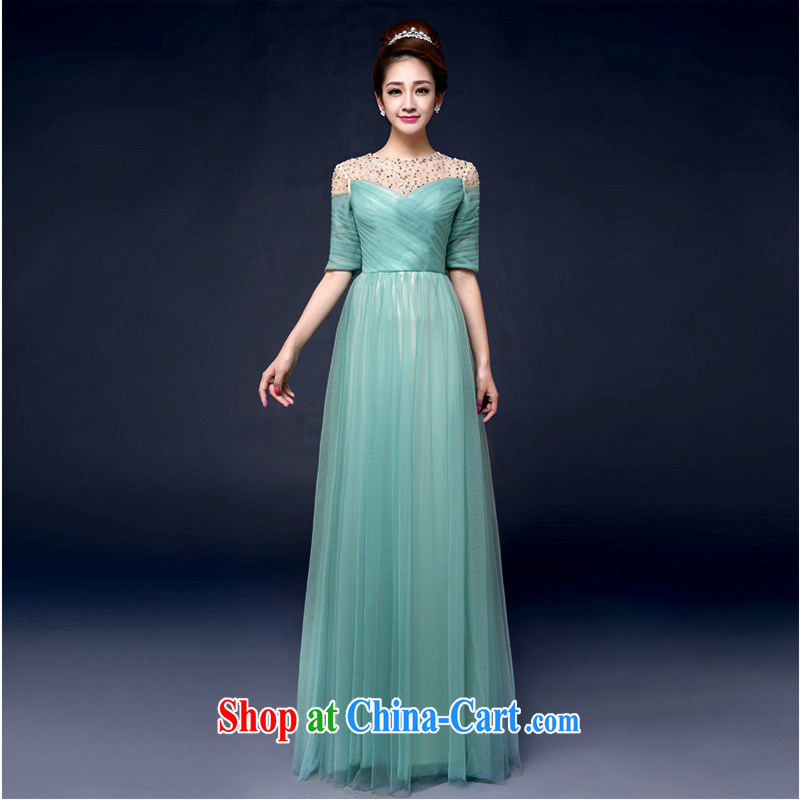 White first to approximately 2015 spring and summer new bridal wedding dresses dress uniform toast evening banquet pregnant women bare Beauty Chest Long Female blue tailored contact Customer Service