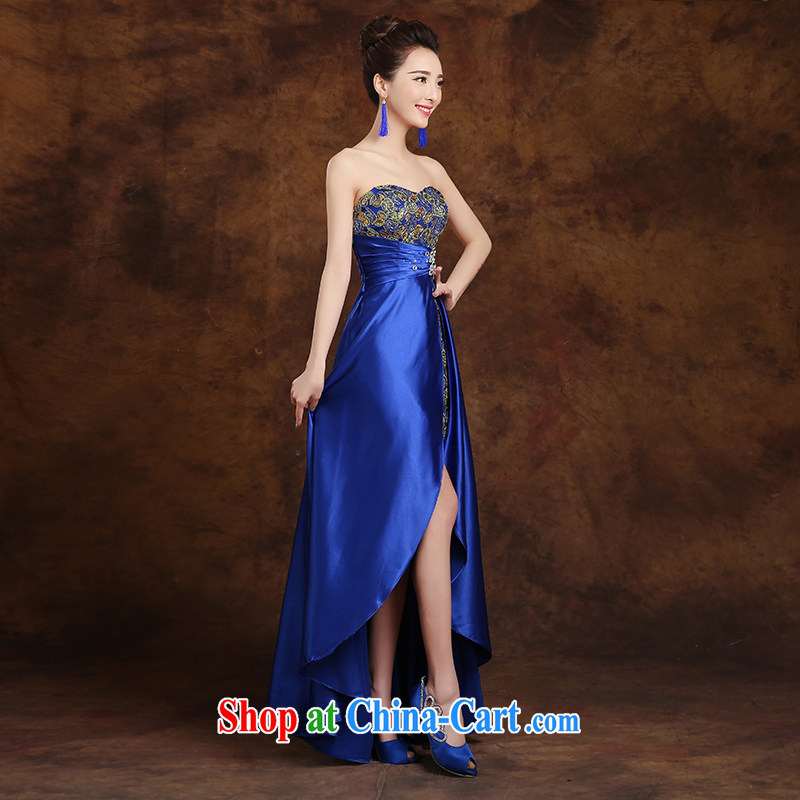 White first to approximately 2015 new toast Service Bridal wedding dress long stylish front short long dress dresses show gold S, white first about, and, shopping on the Internet