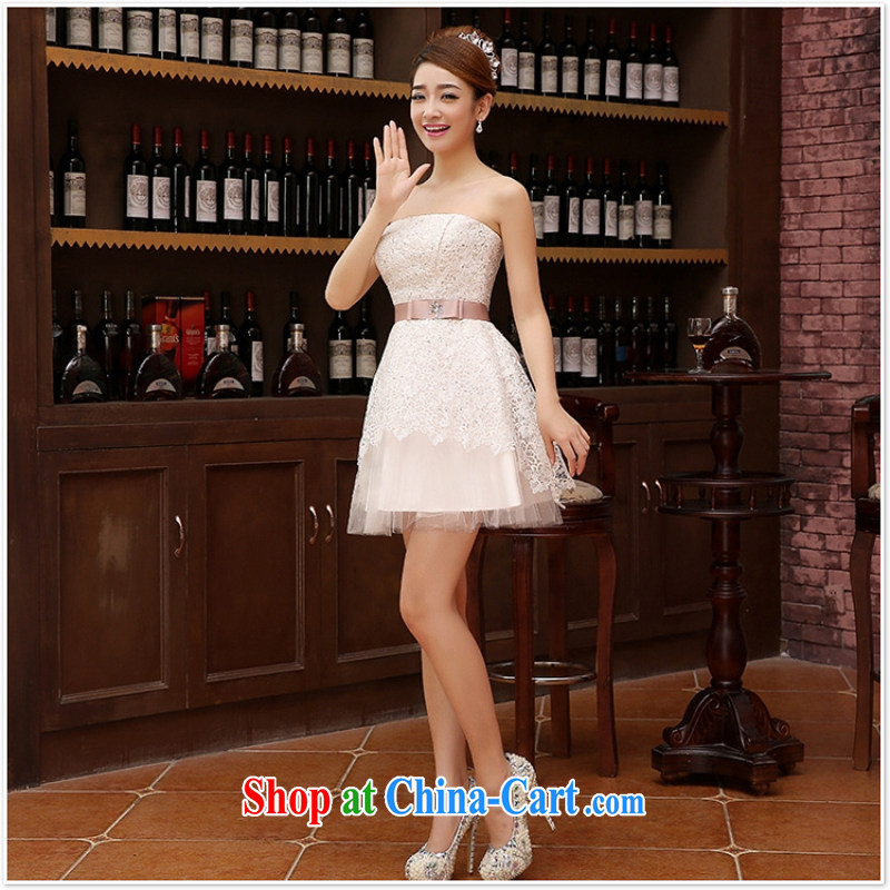 Marriage wedding dresses short bridesmaid mission the marriage tie short Evening Dress wedding ceremony small white XXL