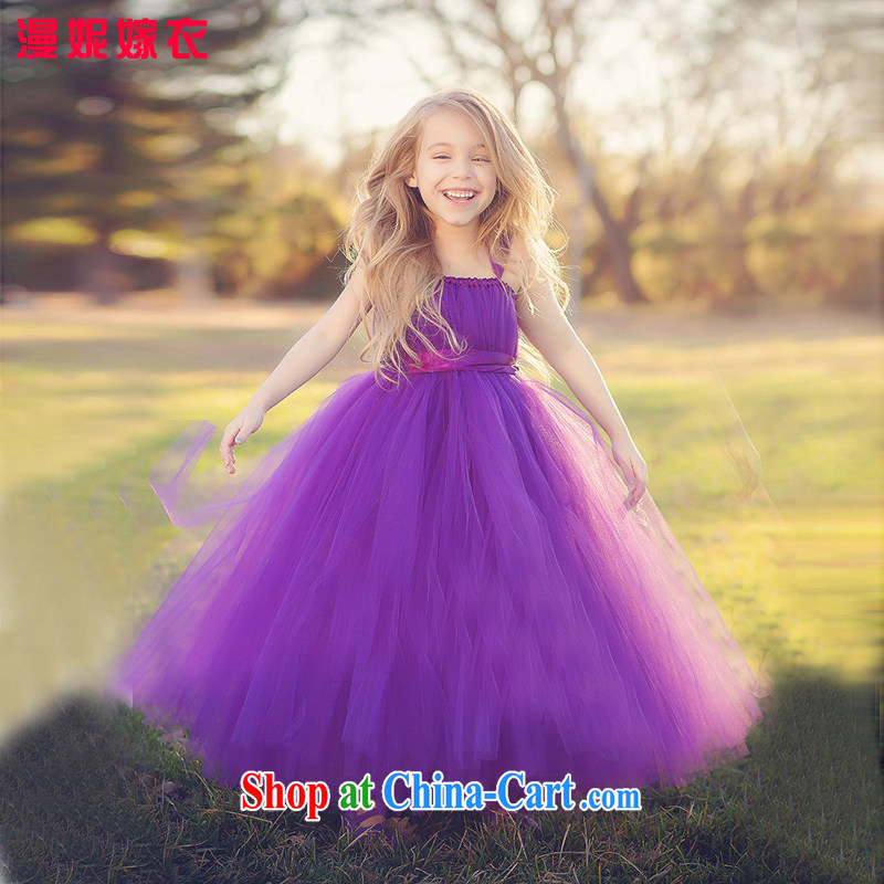 Syria Time lavender purple uniforms children purple dress girls flower dresses dresses age shaggy dress stage piano Service serving evening evening dress purple 135