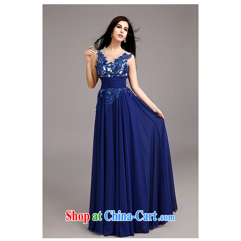 The beautiful yarn a Field shoulder alignment to dress 2015 new sexy shoulders back exposed warranty silhouette floor royal blue wedding dresses Factory Original direct,