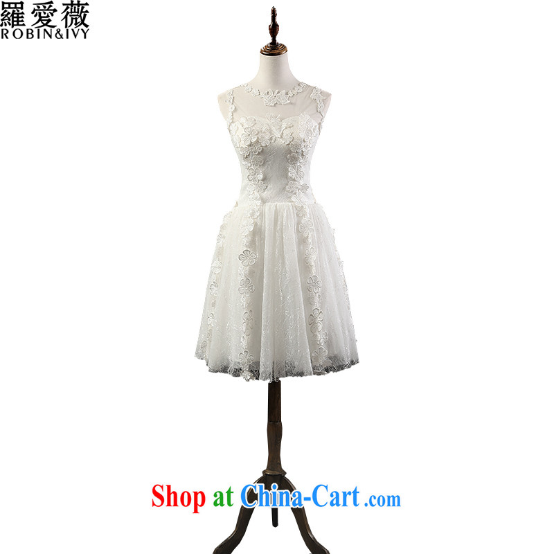 Love, Ms Audrey EU Yuet-mee, RobinIvy_ 2015 new bride toast clothing bridesmaid serving short small dress white wedding dress female L 14,770 white XL