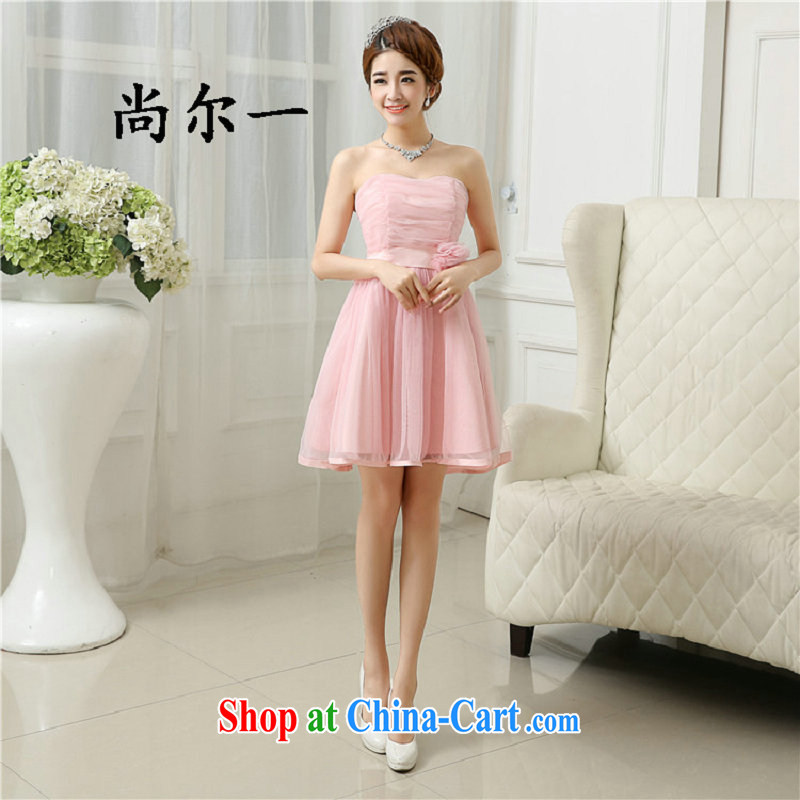 There's a new bridesmaid dresses in short, chest bare minimum dress sister dress banquet summer, 52,613 pink are code